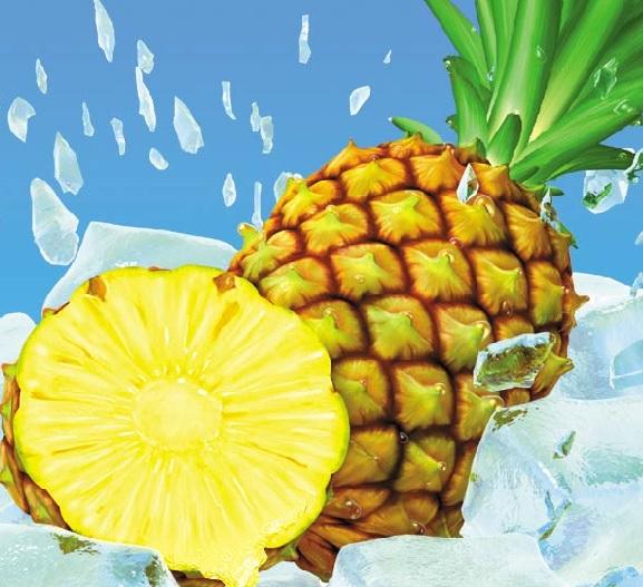 O abacaxi é um das principais fruta do verão.