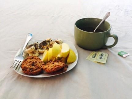 Alimentaçãoo saudável no cafe da manhaã