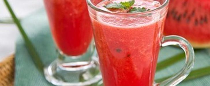 Suco de melancia super refrescante.