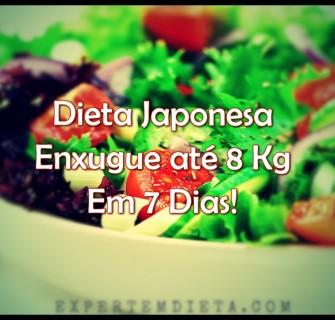 Com a dieta japonesa seca até 8 kg em 7 dias.