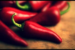 A pimenta vermelha é um dos principais alimentos termogênicos.